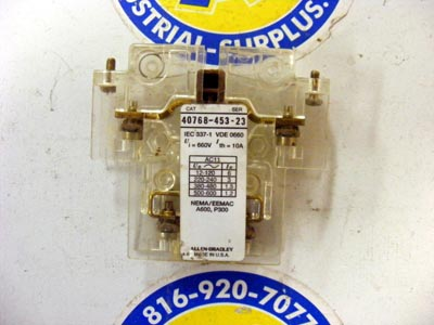 <b>Allen-Bradley - </b>40768-453-23 Auxiliary Contact