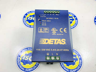 <B>Detas - </B>GSA DW10/24 24Vdc Power Supply