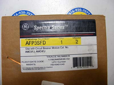 <b>General Electric - </b>AFP3SFD Spectra Series
