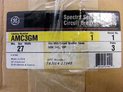 <b>General Electric - </b>AMC3GM Spectra Series Circuit Breaker