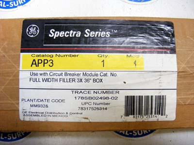 <b>General Electric - </b>APP3 3X Spectra Series Filler