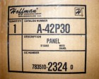<B>Hammond Manufacturing - </B>A-42P30 Back Panel