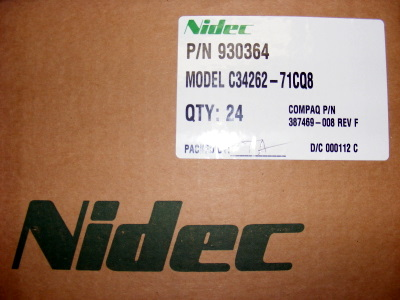 <b>Nidec Beta V TA450DC - CASE OF 24 120mm FANS</b>