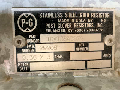 <B>Post Glover Resistors, Inc. - </B>IC#138A3979 Stainless Steel