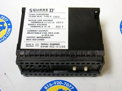 SQUARE D 8430 G-3460 LOAD CONVERTER  460 VAC