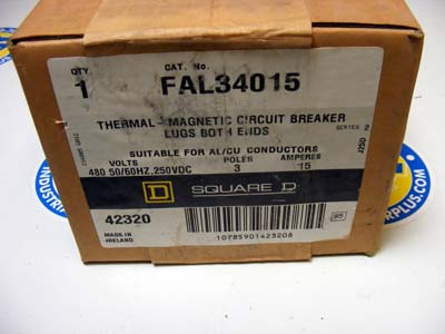 <b>Square D - </b>FAL34015 Circuit Breaker NEW