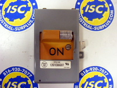 <b>Westinghouse - </b>1261C66G07 On/Off Bucket Switch