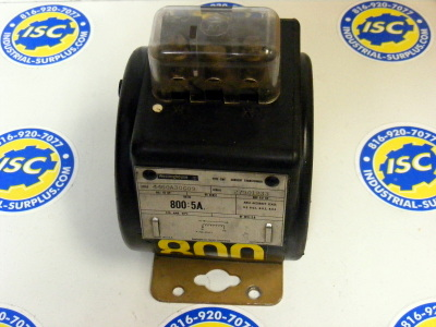 <B>Westinghouse - </B> 4460A30G09 Current Transformer 800:5A Sen
